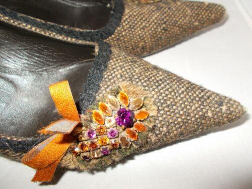 Gattino Tweed Tacco Tacco basso Prada 5 lavoro taglia 37 Shoes 5 37 4 4 Uk Eur qRIw0Yz