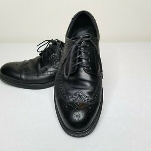 ecco eu 42 us 105/11 shoes black leather mens casual