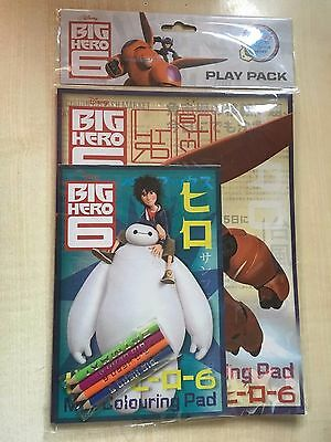 Nouveau Disney Big Hero 6 Sticker Pad-Baymax Hiro Hamada 7 scènes