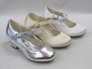 Image is loading SPOT-ON-GIRLS-BRIDESMAID-CHRISTENING-HOLY-COMMUNION-SHOES- fcbd0ab2a77