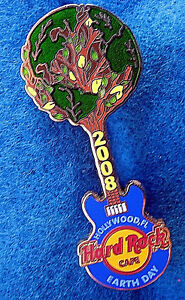 Hollywood-Fl-Terre-Jour-2008-Planete-Globe-Tree-Bleu-Guitare-Hard-Rock-Cafe-Pin