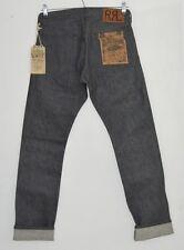 RRL RALPH LAUREN grey raw rigid JAPANESE Selvedge denim Slim Fit jeans 28 x 30