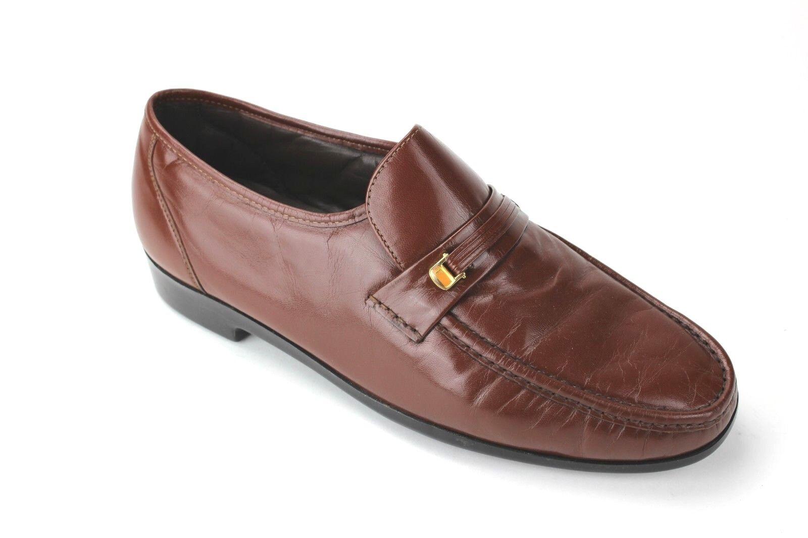 tutto in alta qualità e prezzo basso Florsheim Uomo Riva Moc Moc Moc Toe Leather Loafers Cognac Dimensione 13 3E  incentivi promozionali