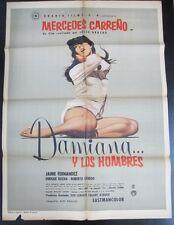 """""""Damiana y los Hombres"""" - Orig. Theatr. Poster, '67 / 37"""" x 27"""", Fine"""