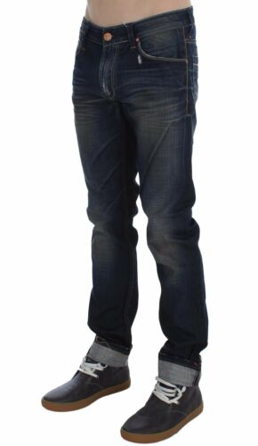 IT48 NEW $180 ACHT Jeans Blue Wash Cotton Denim Slim Fit Mens Trousers W34
