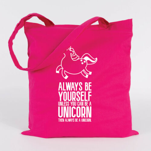 "Farben Tasche Einhorn JUNIWORDS Jutebeutel Motiv /""Always be Yourself/"" versch"