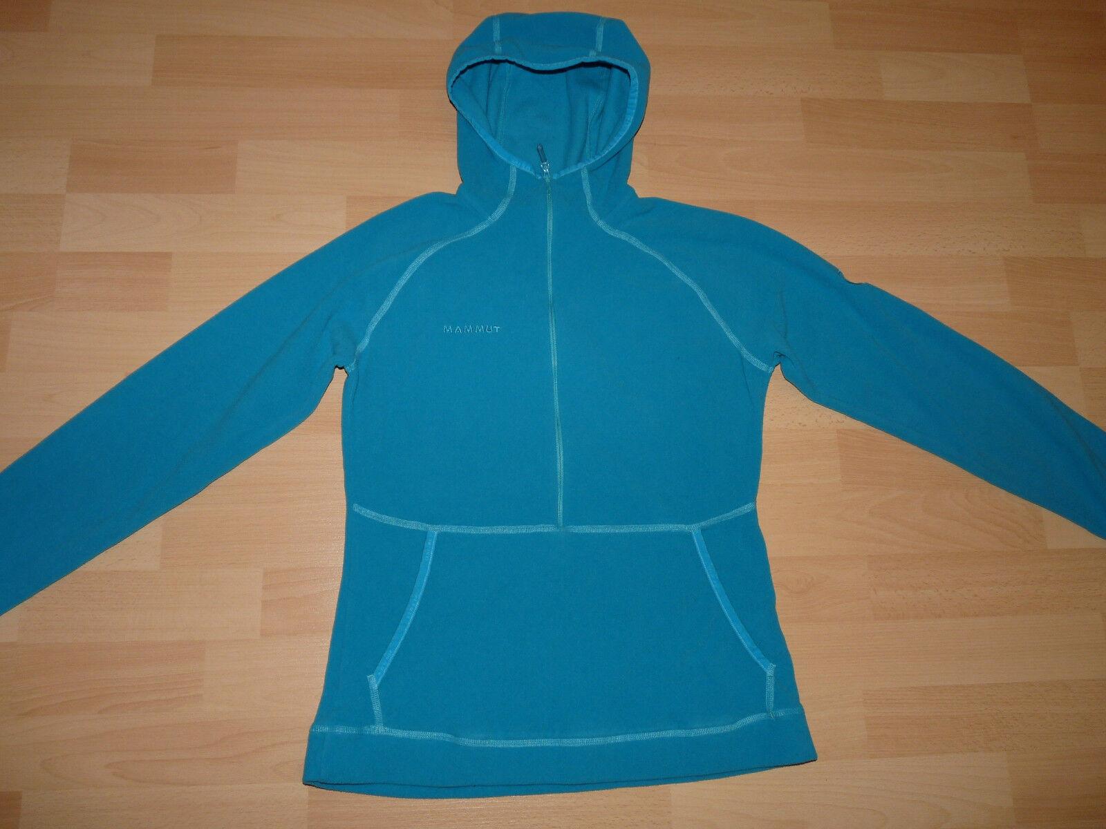 242 MAMMUT Sweatshirt  Hoody damen Damen Kapuze Fleece Jacke türkis Gr M  38 40