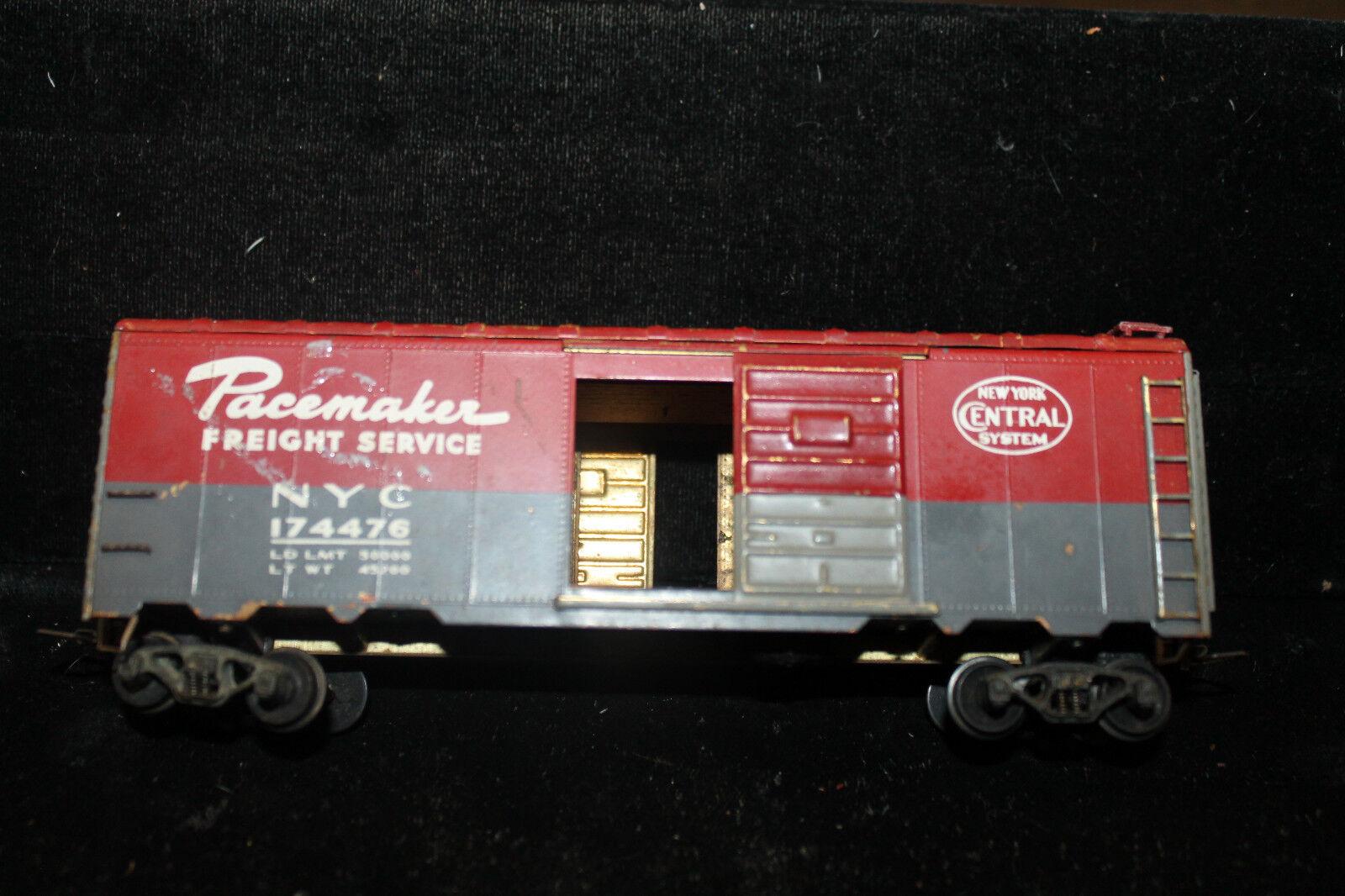 Brass HO New York Central System Pacemaker Box Car Sliding Doors Wooden Floor