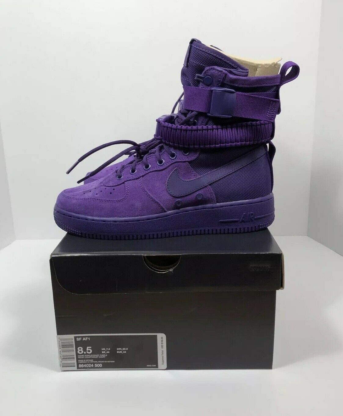Nike Special Force Air Force 1 Court Purple Mens Size 8.5 Womens Size 10  150