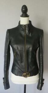 881a641d68eb9e Gucci by Tom Ford Ladies Leather Moto Jacket (RRP £2,500)   eBay