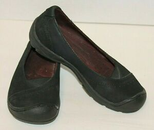 Keen-Womens-6-5-Black-Soft-Suede-Slip-On-Shoes