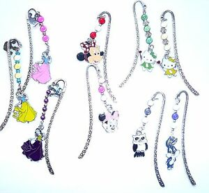 Tibetan-Silver-Bookmark-Disney-Character-Hand-Beaded-using-Miracle-Beads-Gift
