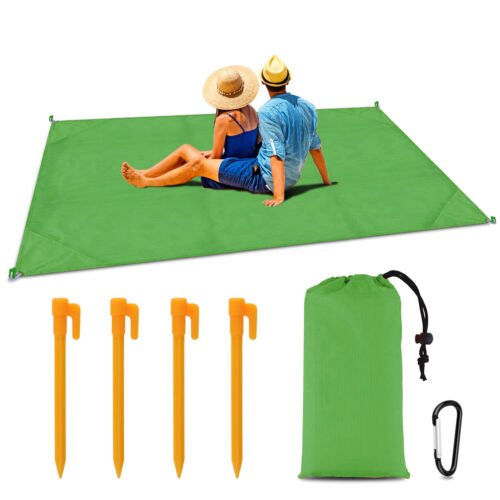 """79""""x 55 Sand Free Beach Mat Outdoor Picnic Blanket Rug Sandless Mattress Pad"""