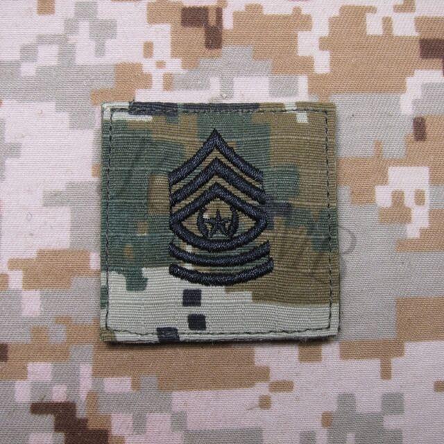 Multicam Tan Design U.S.ARMY Rank Military Embroidery  Patch Insignia