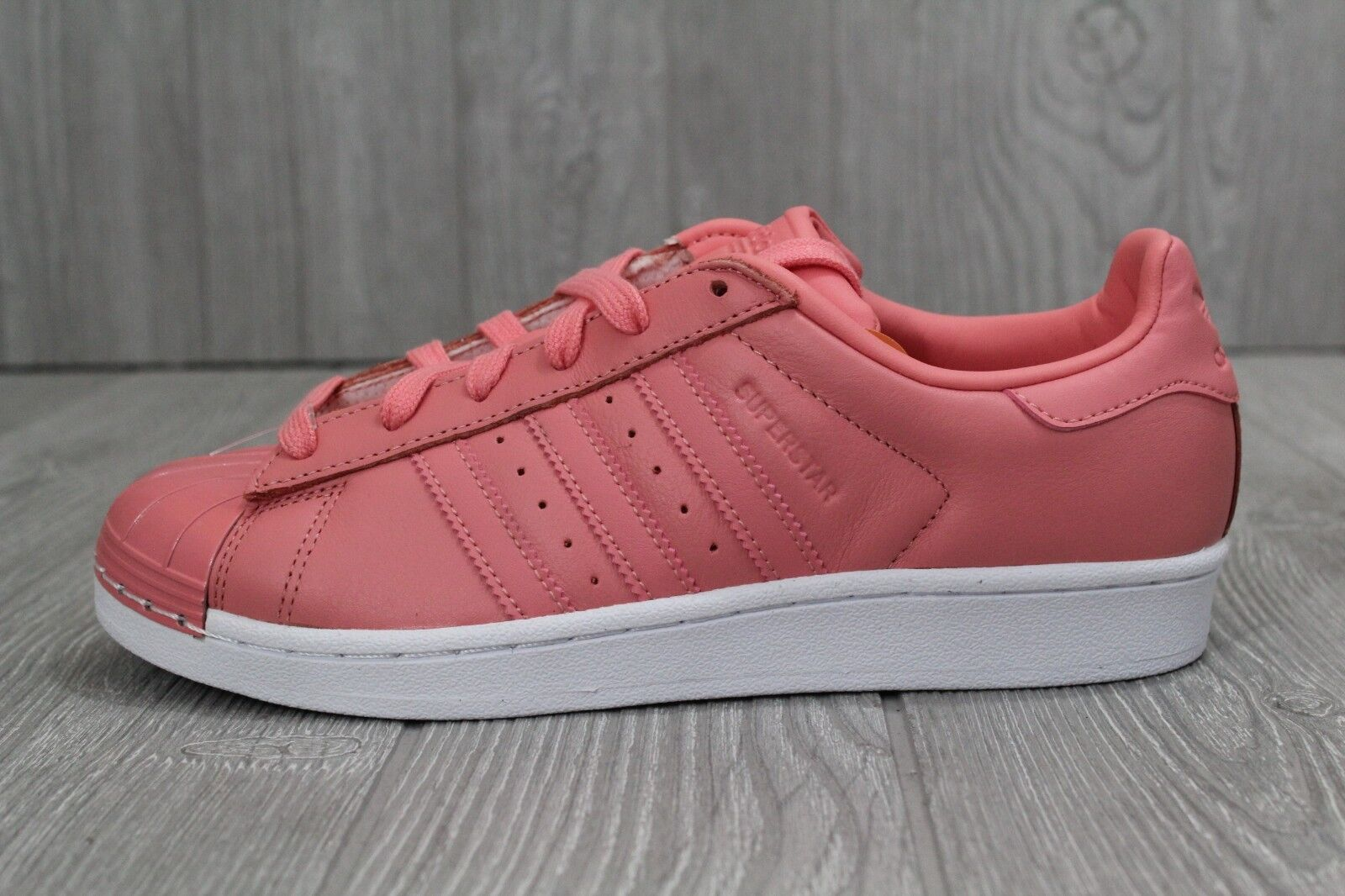 29 New Adidas Superstar 80s Shoes Women's Tactile Rose Leather 7- 8.5 BY9750