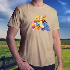75dd71a75863d Winnie the Pooh Piglet Tigger Eeyore Roo Disney Mens Unisex Tee T ...
