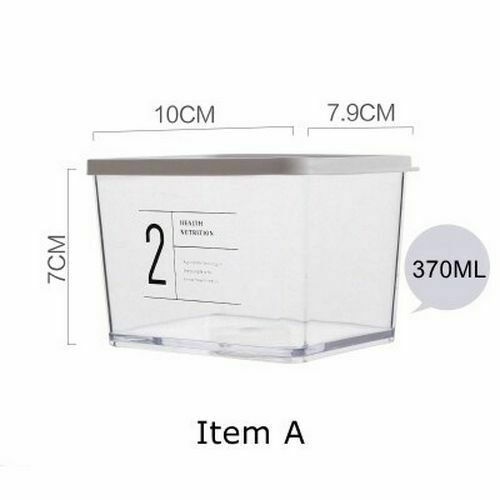 Sealed Plastic Kitchen Storage Box Transparent  Food Can Nordic Organizer Tools