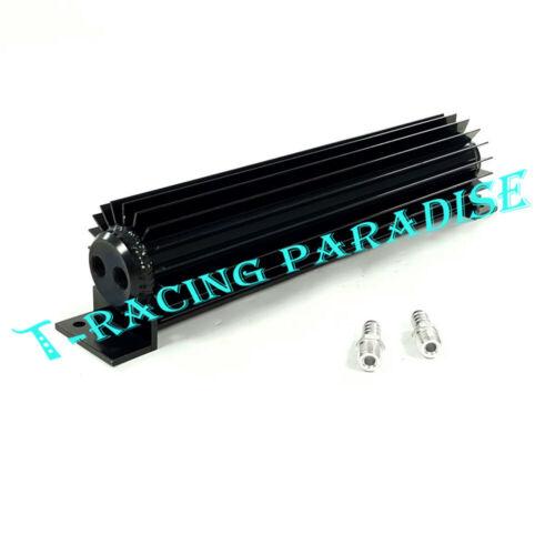 "Universal 15/"" Aluminum Dual Pass Transmission Oil Cooler 1//4/"" NPT barb fittings"