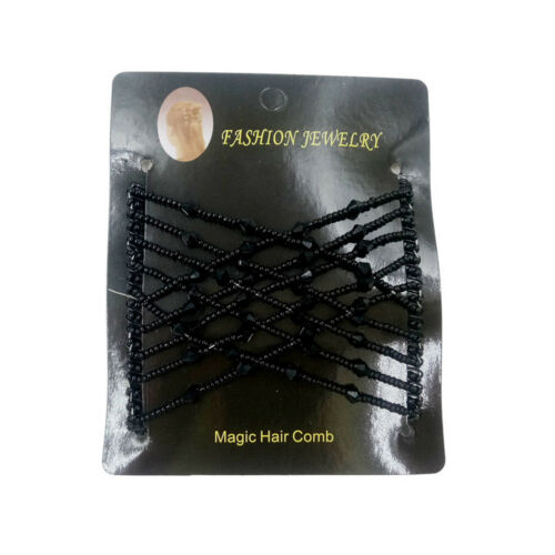 Magic Elastic Hair Comb Hairstyle Design Accessories Strong Hairpins Beads  HE