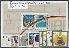 BRD ab  Deutsche Einheit 1477 -  bis Ende 1990 mit Block22 alle  xx, siehe Scan