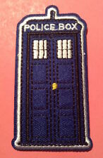 **Doctor Who Tardis New EMBROIDERED SEW OR IRON ON APPLIQUE PATCH**