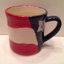 Buckeye Stoneware U.S.A.  Zanes, OH  Coffee Mug  Red White and Blue Flag Mint