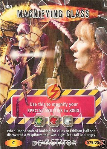 DR WHO DEVASTATOR CARD 900 MAGNIFYING GLASS