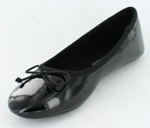 GIRLS SPOT ON BALLERINA STYLE SLIP ON FLAT SHOES WITH BOW H2236 ONLY £5.99
