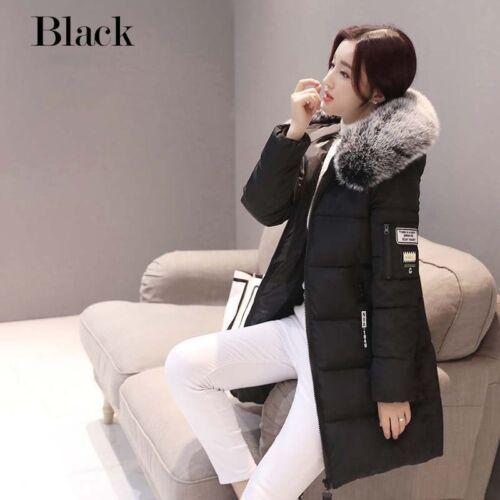 Womens Winter Faux Fur Thicken Long Jacket Coat Outwear Parka Warm Overcoat Top