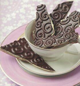 Chocolate Swirls Impression Sheet Cake Decorating Mould Sugarcraft