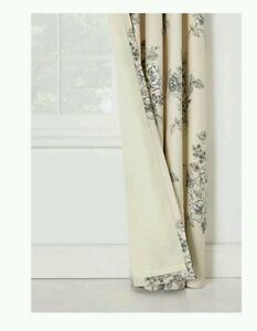 Shabby-Chic-Roses-Ready-Made-Lined-Eyelet-Curtains-66x90-034-168x229cm-Cream-Grey
