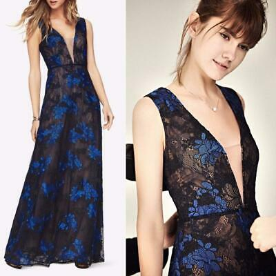 AUTH BCBG MAX AZRIA Brea Lace Embroidered Floral Evening Gown Dress | eBay