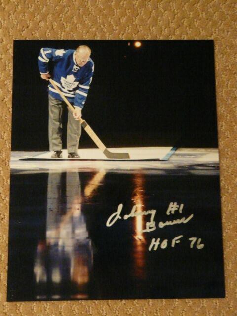 Johnny Bower Toronto Maple Leafs Hockey HOF Autographed 8x10 Photo #2