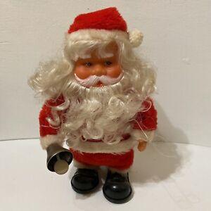 Vintage Animated Bell Ringing Walking Musical Santa Claus Christmas Decor