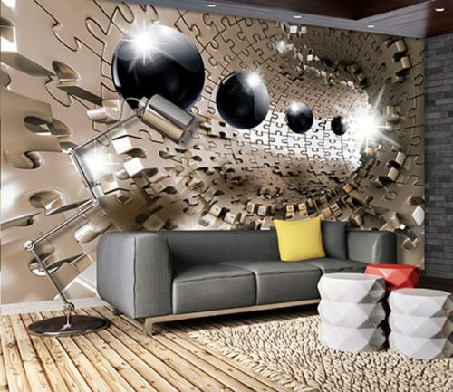 Photo Wallpaper Mural  10233/_P 3D Puzzle Tunnel with Spheres abstract art abstra