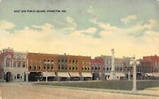 Princeton Indiana~West Side Square~Grocery Store~Hardware~Civil War Monument~'08