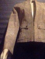 ALFANI Size Small Womens LEATHER Multi-Color Print Pocket Lightweight Jacket
