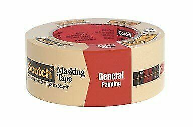 Painters Masking Tape For General Painting lot of 2 3M Scotch .60 YD 2050-18A
