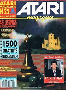 Atari Magazine N°25 Juil 1991 : 1500 Logiciels Gratuits