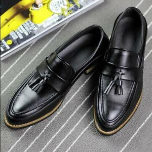 British-Men-tassel-flat-casual-loafers-dress-breathable-brogues-shoes-Sz-F248