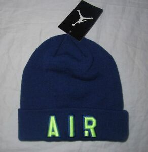 eb7264998ac57c NWT Boys NIKE AIR JORDAN Jumpman 23 Blue Beanie Hat Cap - Youth One ...