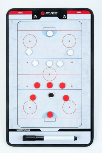 Ice Hockey Coach Board Magnetic Tactic Clipboard Double Sided Coaching Pure2
