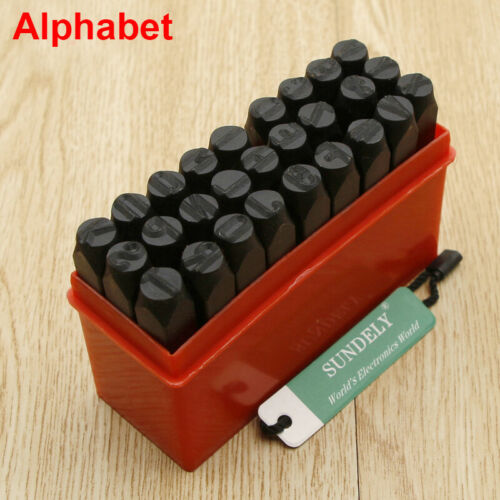 9//27//36pc Letter And Number Punch Metal Stamp Security