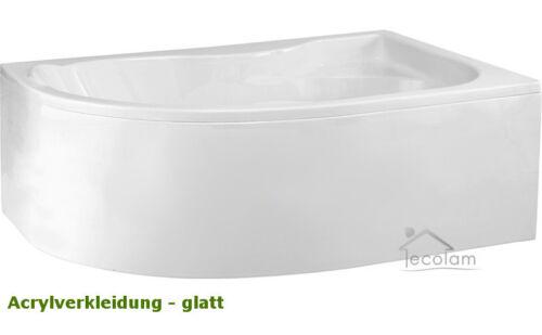 Badewanne Eckwanne Wanne eckig 170 x 110 cm Acryl ohne//mit Schürze Siphon rechts