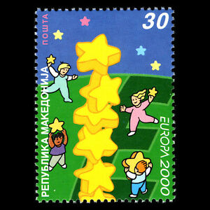 Macedonia-2000-EUROPA-Stamps-Tower-of-6-Stars-Sc-187-MNH