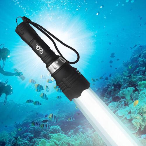 NEW Powerful 60M Waterproof 5000 Lm LED Underwater Diving Flashlight