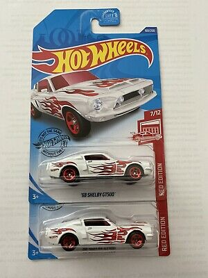 *NEW* Lot of 10 Hot Wheels 2020 /'68 Shelby GT500 Red Edition Target Exclusive