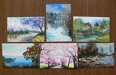 Greeting Cards Set 6 Envelopes The Mouth And Foot Painting Artists Ebay