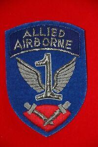 Details about WW2 US BRITISH ALLIED AIRBORNE BULLION WIRE PATCH BADGE COPY