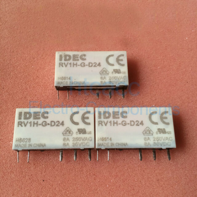 IDEC Rv1h-g-d24 Relays Socket Type Sv1h-07l-5 SPDT 24vdc 6a on idec relay base, idec relay schematic, idec spdt relay, idec relay 24v, idec safety relay, idec smart relay, idec solid state relays,